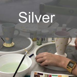 Silver Paint a Piece | The Ceramic Studio