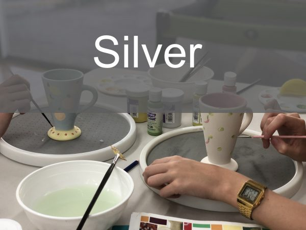 Silver Paint a Piece   The Ceramic Studio
