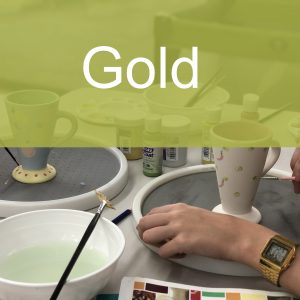 Gold Paint a Piece | The Ceramic Studio