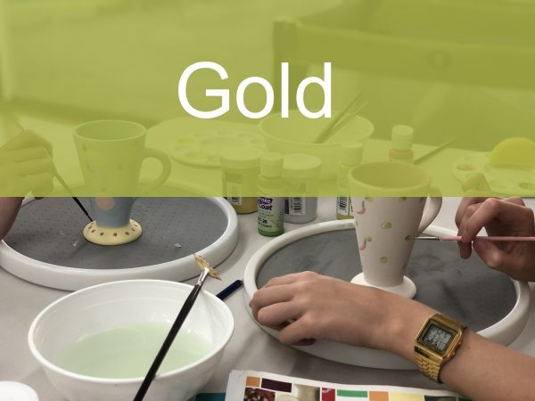 Gold Paint a Piece | The Ceramic Studio