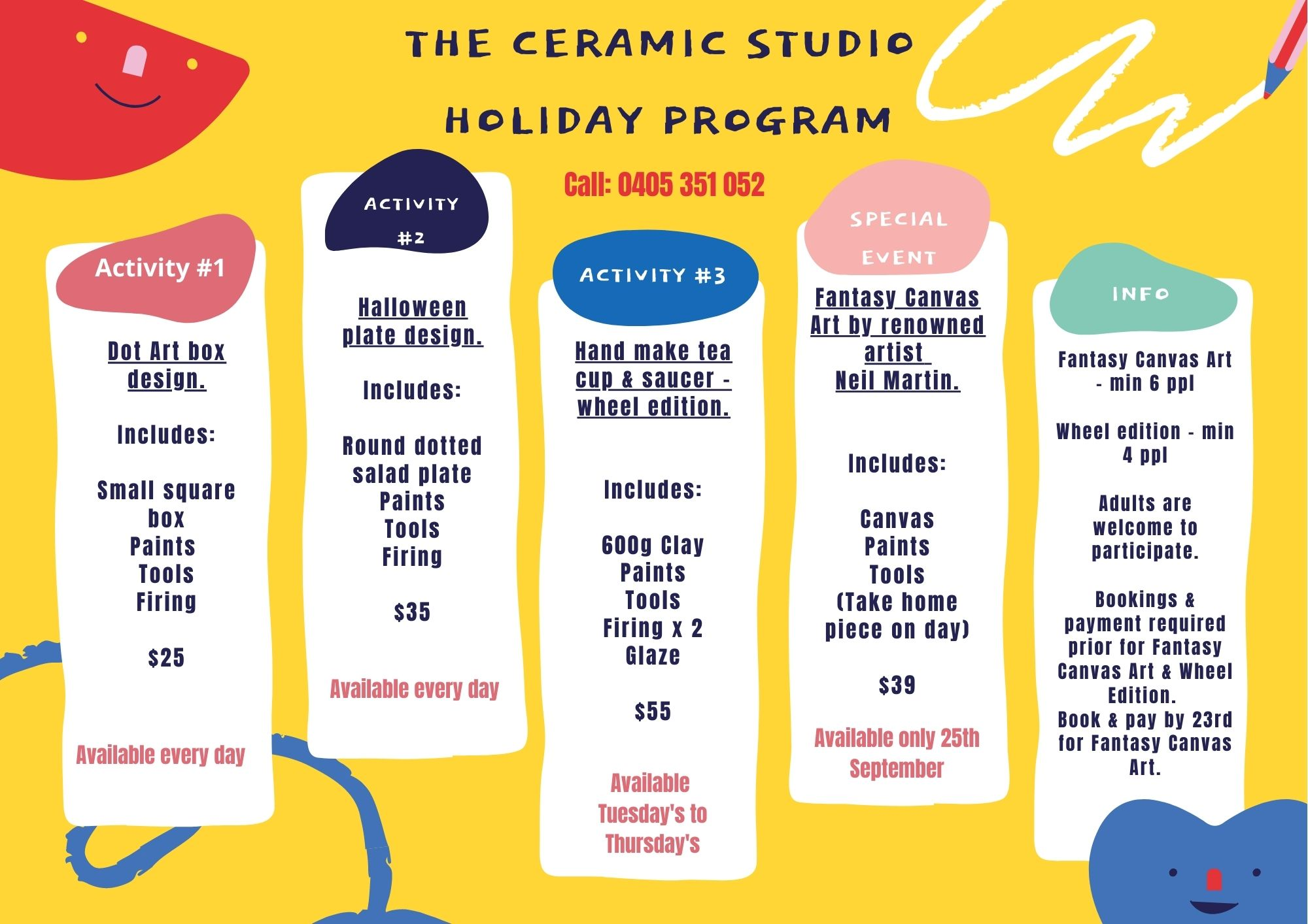 the ceramic studio holiday program (1)