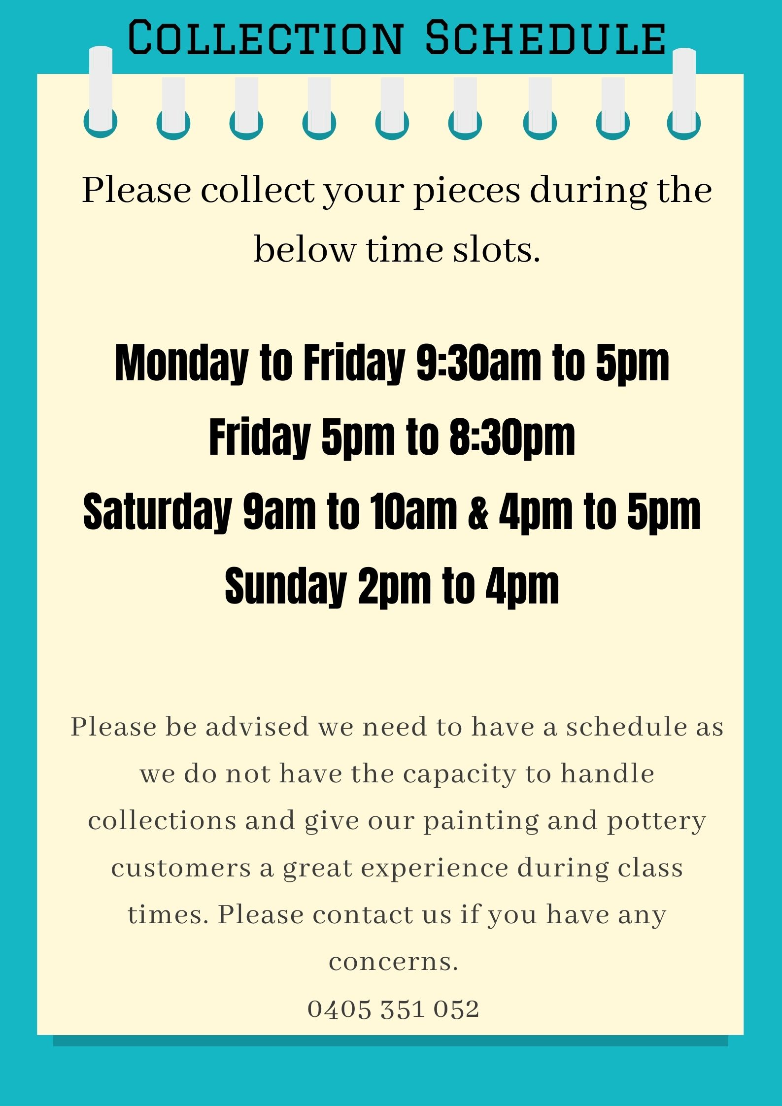 Collection schedule
